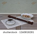 english teacup with saucer and... | Shutterstock . vector #1260818281