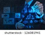 businessman hand working with... | Shutterstock . vector #126081941