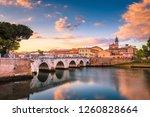rimini cityscape. tiberius... | Shutterstock . vector #1260828664