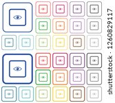 preview object color flat icons ... | Shutterstock .eps vector #1260829117
