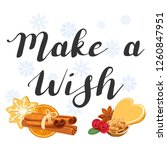 make a wish. lettering with... | Shutterstock .eps vector #1260847951