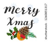 merry xmas. lettering with a... | Shutterstock .eps vector #1260851317