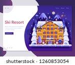 skiing resort landing page...