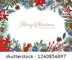 christmas greeting card... | Shutterstock .eps vector #1260856897