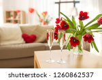 valentines day  romantic date... | Shutterstock . vector #1260862537