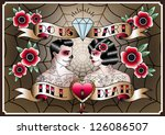 you   me  vector illustration... | Shutterstock .eps vector #126086507