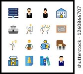 16 learning icon. vector... | Shutterstock .eps vector #1260866707