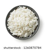 Bowl Of Boiled Rice Isolated O...
