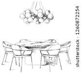 comfortable modern interior... | Shutterstock .eps vector #1260872254