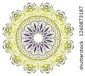mandala pattern. traditional... | Shutterstock .eps vector #1260873187