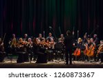 Small photo of DNIPRO, UKRAINE - DECBER 17, 2018: FOUR SEASONS Chamber Orchestra - main conductor Dmitry Logvin perform at the State Drama Theatre.