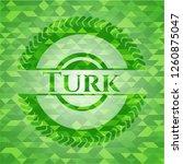 turk green emblem with mosaic... | Shutterstock .eps vector #1260875047