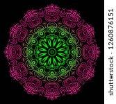 flower coloring mandala.... | Shutterstock .eps vector #1260876151
