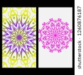 yoga card template with mandala ... | Shutterstock .eps vector #1260876187