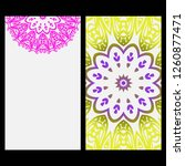 cards or invitations set with... | Shutterstock .eps vector #1260877471