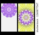 card template with floral... | Shutterstock .eps vector #1260877567