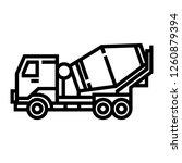 cement mixer car icon | Shutterstock .eps vector #1260879394