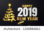 happy new year template.... | Shutterstock .eps vector #1260886861
