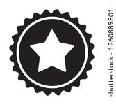 medal with star seal icon ... | Shutterstock .eps vector #1260889801