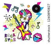 fashionable stylish unicorn...   Shutterstock .eps vector #1260890827