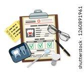 medical dental record concept... | Shutterstock .eps vector #1260891961