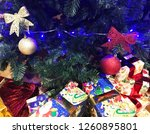 christmas and new year festive... | Shutterstock . vector #1260895801