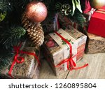 christmas and new year festive... | Shutterstock . vector #1260895804