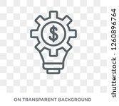 fintech innovation icon. trendy ...   Shutterstock .eps vector #1260896764