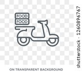 food delivery icon. trendy flat ... | Shutterstock .eps vector #1260896767