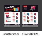 2 sides flyer template for sale ... | Shutterstock .eps vector #1260900121