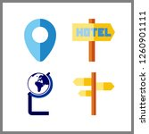 4 continent icon. vector...   Shutterstock .eps vector #1260901111