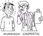 patient is nervous around a... | Shutterstock .eps vector #1260905731