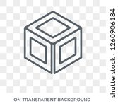 side to side of a cube icon.... | Shutterstock .eps vector #1260906184