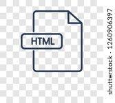 html icon. trendy html logo... | Shutterstock .eps vector #1260906397