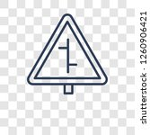 intersection sign icon. trendy... | Shutterstock .eps vector #1260906421