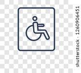 handicap sign icon. trendy...   Shutterstock .eps vector #1260906451