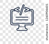 self closing tag icon. trendy...   Shutterstock .eps vector #1260906601