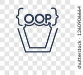 object oriented programming...   Shutterstock .eps vector #1260906664