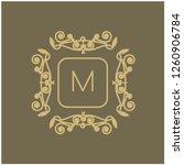 vector abstract monogram.... | Shutterstock .eps vector #1260906784