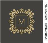 vector abstract monogram.... | Shutterstock .eps vector #1260906787