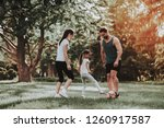 happy young family have fun...   Shutterstock . vector #1260917587