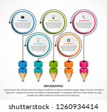 infographics template with... | Shutterstock .eps vector #1260934414