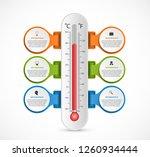 infographics thermometer design ... | Shutterstock .eps vector #1260934444