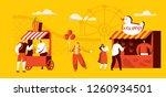 amusement park of attractions... | Shutterstock .eps vector #1260934501
