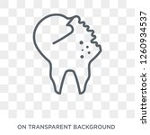 damaged tooth icon. trendy flat ... | Shutterstock .eps vector #1260934537