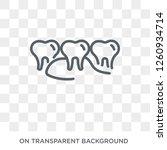 floss icon. trendy flat vector... | Shutterstock .eps vector #1260934714