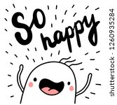 so happy hand drawn...   Shutterstock .eps vector #1260935284