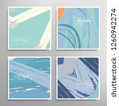 creative artistic backgrounds... | Shutterstock .eps vector #1260942274