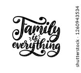 family is everything ... | Shutterstock .eps vector #1260943534