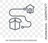 delivery destination icon.... | Shutterstock .eps vector #1260947677